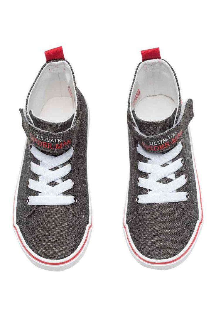 Zapatillas deportivas altas - Gris oscuro/Spiderman - | H&M ES