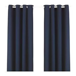The thick curtains darken the room and provide privacy by preventing people outside from seeing into the room. The eyelet heading allows you to hang the curtains directly on a curtain rod. Effective at keeping out both drafts in the winter and heat in the summer.