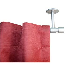 Verona Ceiling Mount Curtain Rod, Pewter (from Walmart--but I think you could do this with towel racks too....)