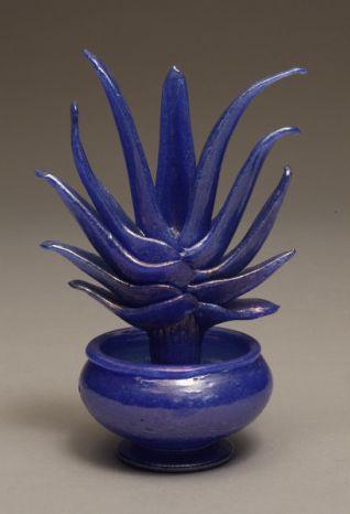Napoleone Martinuzzi, Blue Cactus Pulegosa Vase c. 1930; Photo Credit: Ed Watkins, 2008