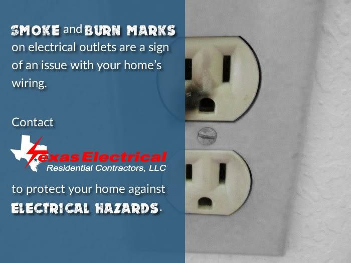 Smoke And Burn Marks On Electrical Outlets Are A Sign Of An Issue With Your Home S Wiring Contact Texas E House Wiring Electrical Outlets Protecting Your Home