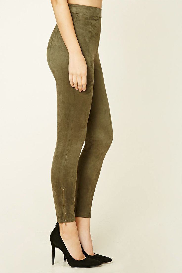 faux suede leggings - Forever 21