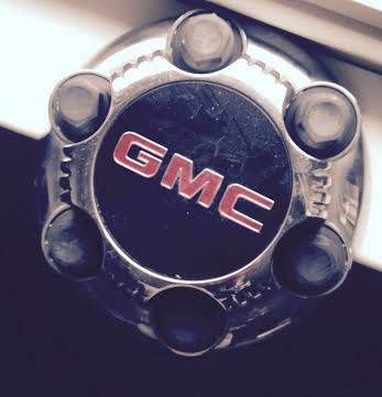"Center Cap GMC Factory 6 lug Chrome off 17"" Rims Alloy Wheels / For Sale + 20 inch set of Tires on 6 lug GM bolt pattern Rims."