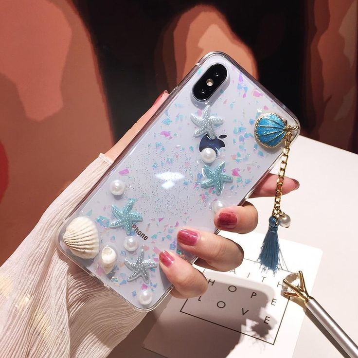 Cute Pearls & Shells Clear Case For iPhone X XS Max XR