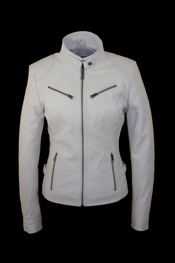 wit leren jasje dames