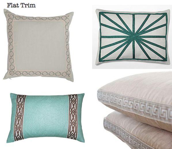 Decorating Design Ideas-Decorative Pillows-Pillows with Flat Trim