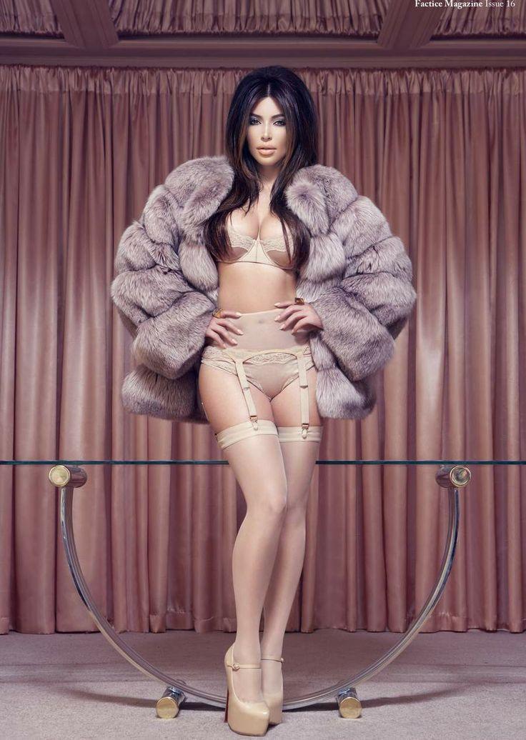 Kim Kardashian Wears Lingerie For Dummy Magazine