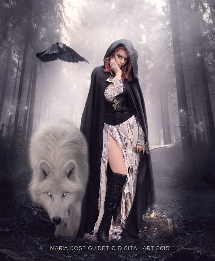 Image result for Nice Day gothic woman with her wolf images