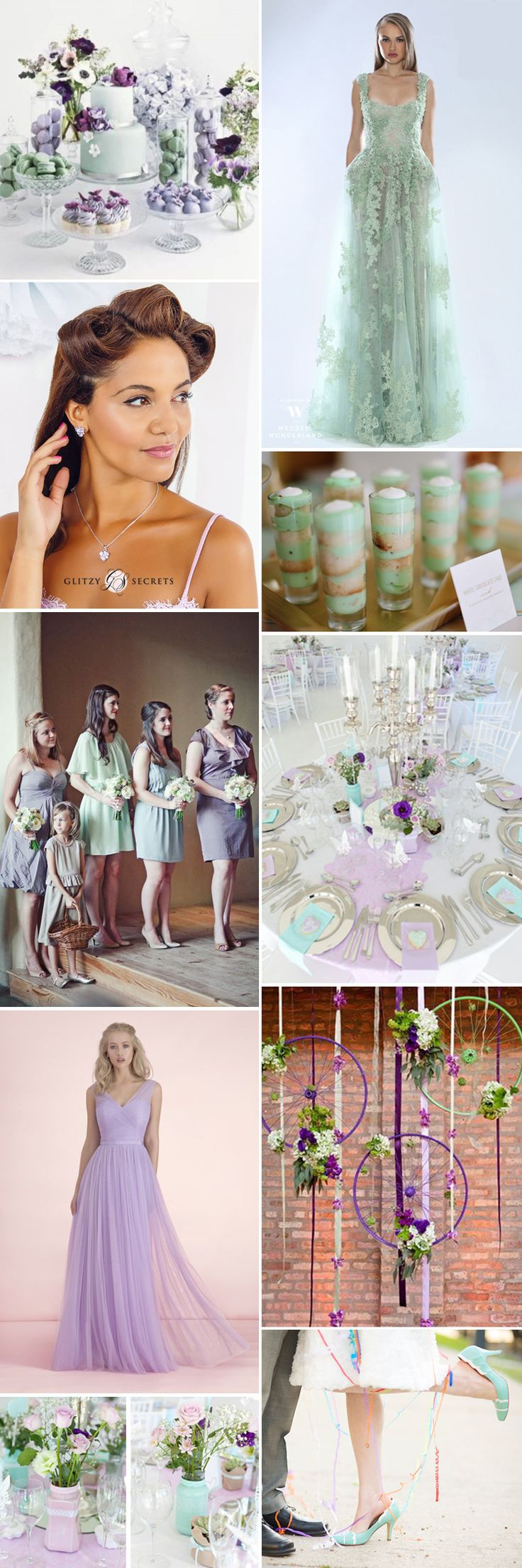 If you love the idea of including a mint tone on your wedding day then consider a gorgeous mint green and lilac wedding color scheme