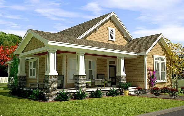 3 Bed Cottage with Bonus and Alley Garage - 15068NC | Bungalow, Cottage, Country, Vacation, Photo Gallery, 1st Floor Master Suite, Bonus Room, CAD Available, PDF, Narrow Lot | Architectural Designs