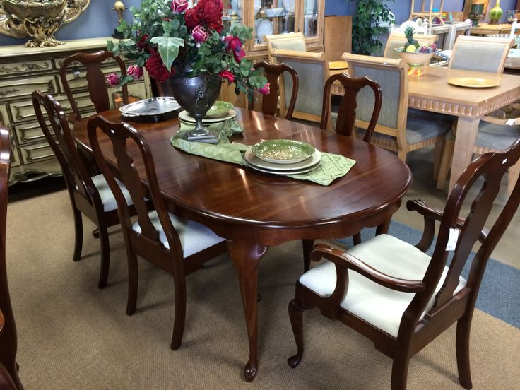 pennsylvania house cherry dining room furniture | Love the table. It's a Pennsylvania House Queen Anne style ...