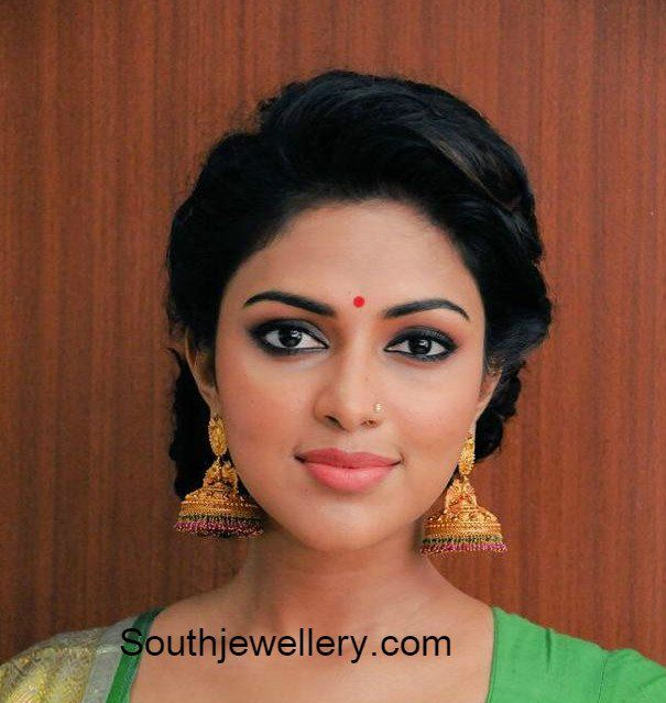 Amala Paul in Antique Jhumkas