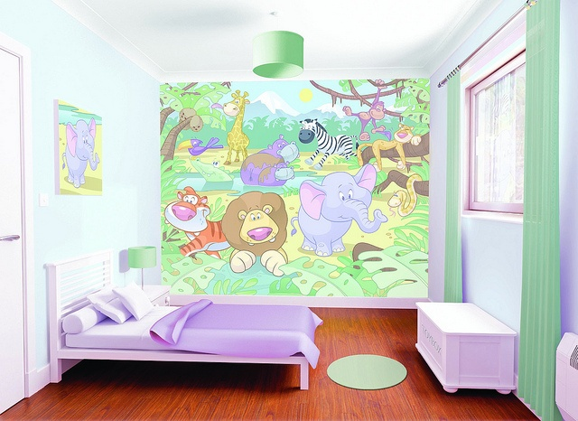 Nursery Jungle Bedoom Scene 1MB by NewBabyBerry, via Flickr