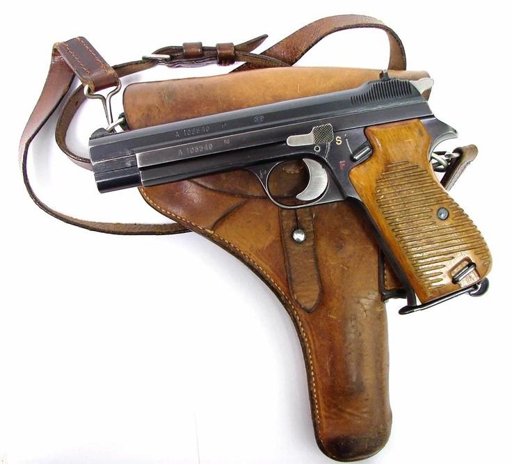 Vintage Sig P210 9mm Para pistol - http://www.RGrips.com Holster idea