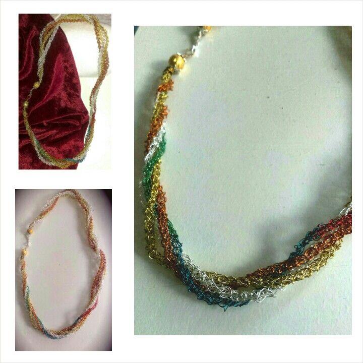 Wire handmade necklace