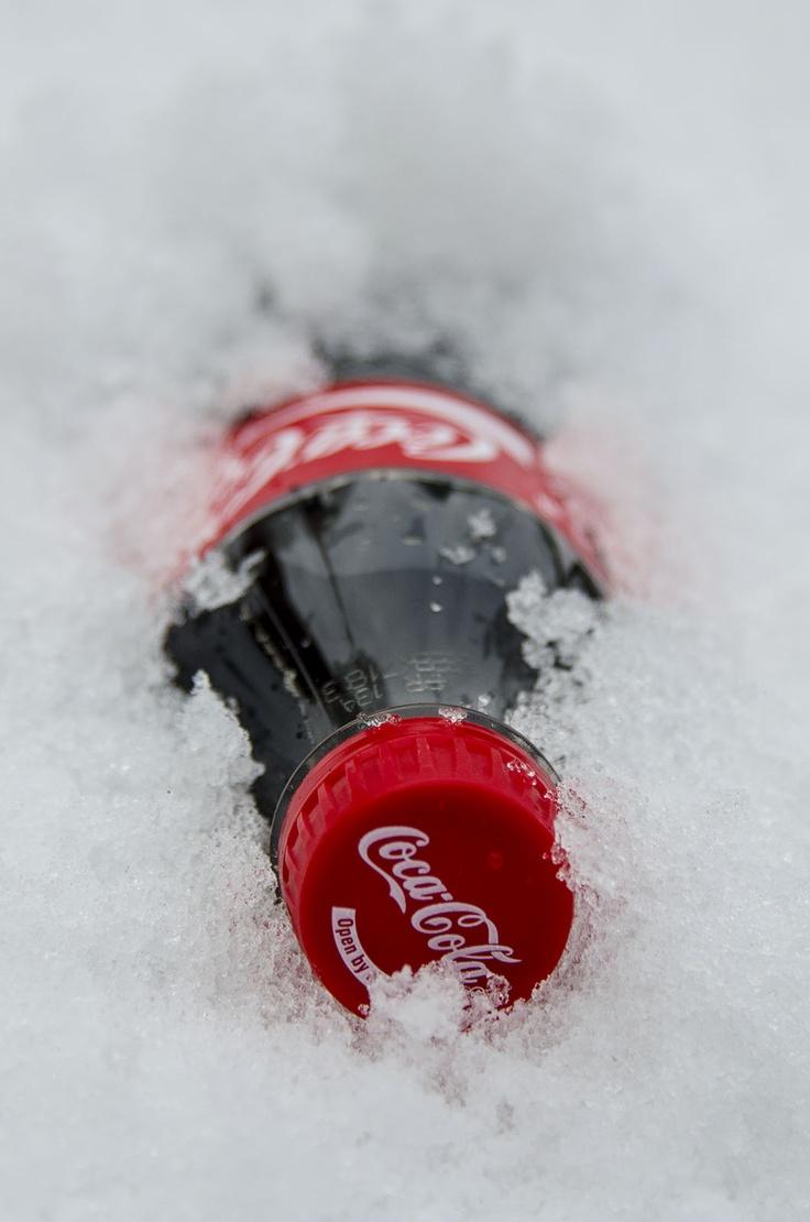 Coca Cola in the snow