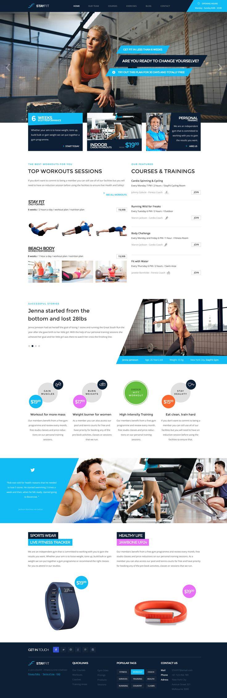 221 best Workout Website images on Pinterest   Website designs ...