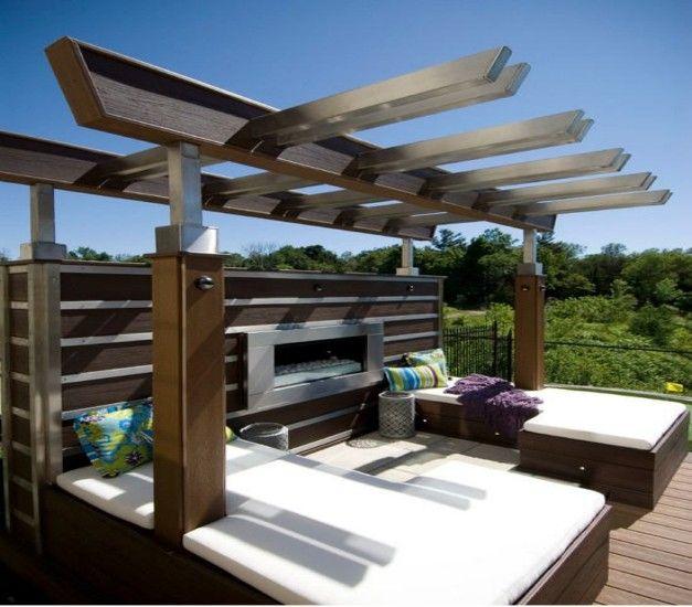 Metal pergola designs outdoor goods for Steel and wood pergola
