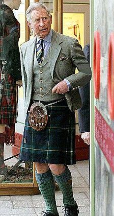 HRH Prince Charles, dressy daywear.