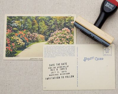 Vintage DIY Save the Dates courtesy of Amanda Nistor from Ruffled #weddings #weddinginvitations