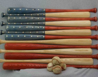 13 baseball bat halves to make american flag or by homerunputter