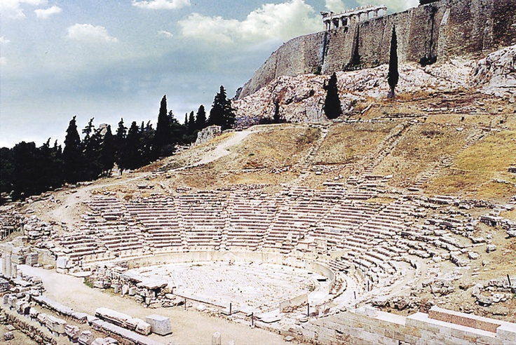 Dionysus Theater: The birthplace of theatrical performances. A major open-air theater and one of the earliest preserved in Athens - it was used for festivals in honor of the god Dionysus. It was Europe's first theater, and is located in the Southern slope of the Acropolis underneath the Parthenon.