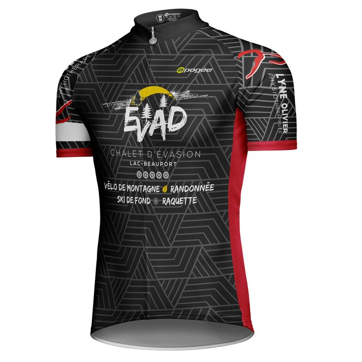 Cycling jersey - Designed and made by Apogee Sports.   Client : Les Pétards