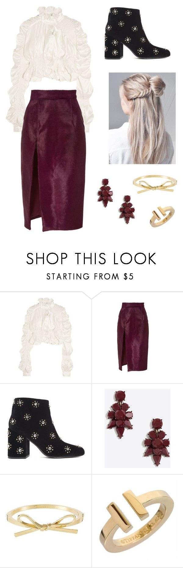 """""""Untitled #3412"""" by california-made ❤ liked on Polyvore featuring Preen, Brandon Maxwell, Senso and Tiffany & Co."""