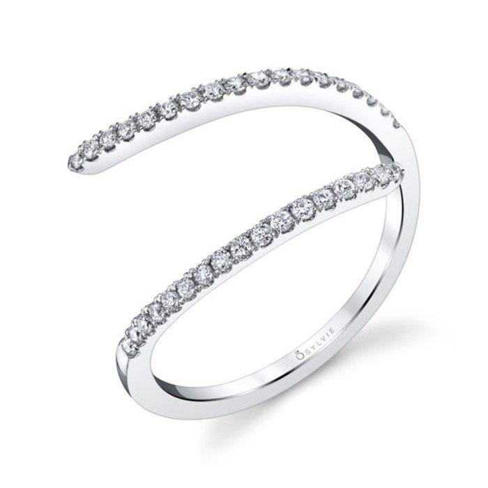 Popular Platinum Wedding Jewelry Trends: #13. Platinum and Diamond Band; #engagementring