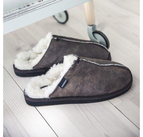 ae60f4c00bb4 Hugo oiled sheepskin slippers