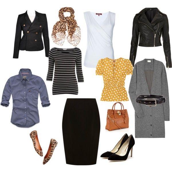 Black penicl skirt mixes