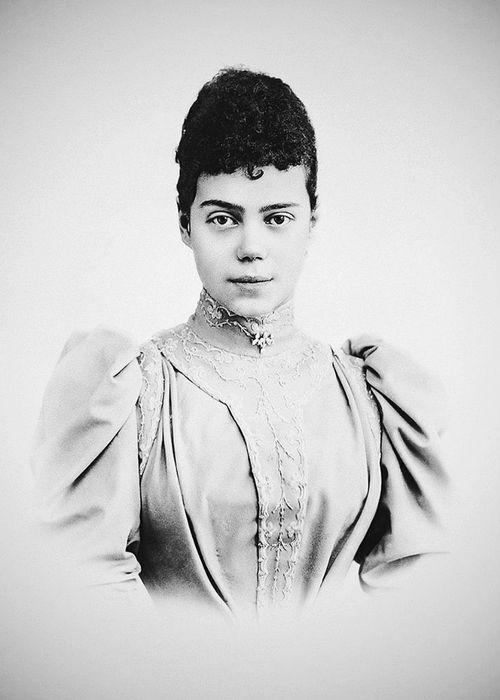 Grand Duchess Xenia Alexandrovna of Russia (1875 - 1960) - the eldest daughter of Emperor Alexander III of Russia, the sister of Emperor Nicholas II.