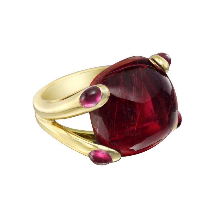 """Verdura – Estate 18k Yellow Gold & Pink Tourmaline """"Candy"""" Ring"""
