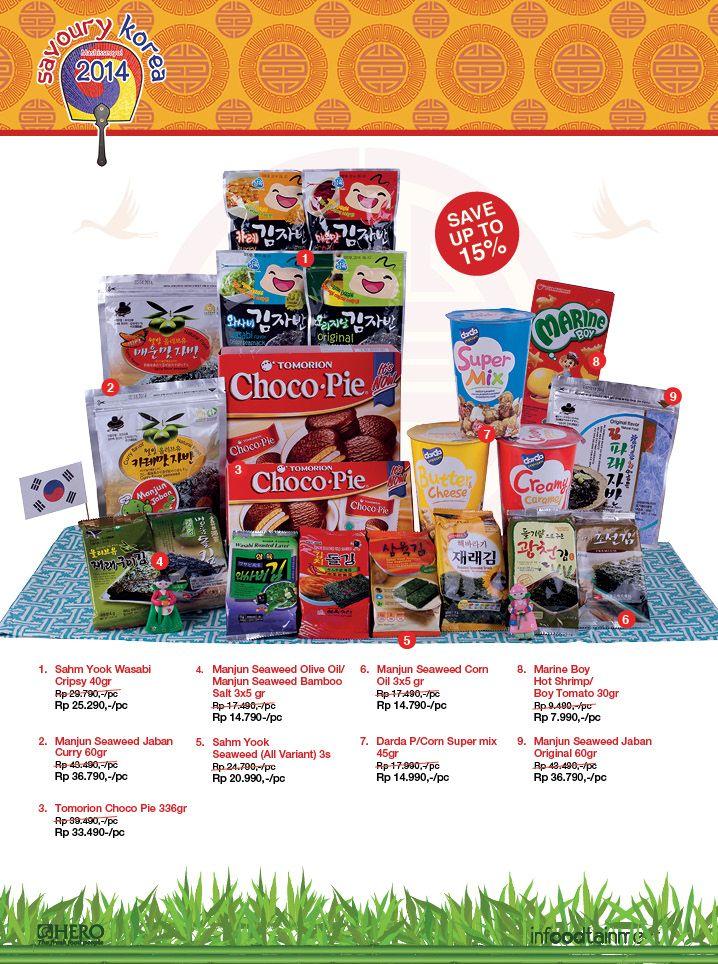 Dapatkan berbagai produk khas negara Korea dengan harga ekonomis hanya di Hero Supermarket. Solusi tepat berbelanja.