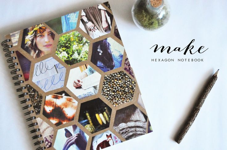 Pie N' the Sky: M A K E :: hexagon notebook