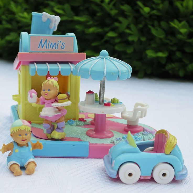 Polly Pocket Mimi & the Goo Goos Drive In 100% complete 2 Babys Auto | eBay