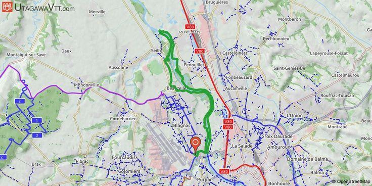 [Haute-Garonne] Blagnac - Passerelle Gagnac - Blagnac Itinéraire longeant la Garonne avec quelques passages techniques, idéal pour faire le réglage du vélo et ne pas se rouiller quand on n'a que deux heures devant soi. Parcours boueux par temps de pluie.  Seul le passage de Seilh à Beauzelle est goudronné (environ 4 km).