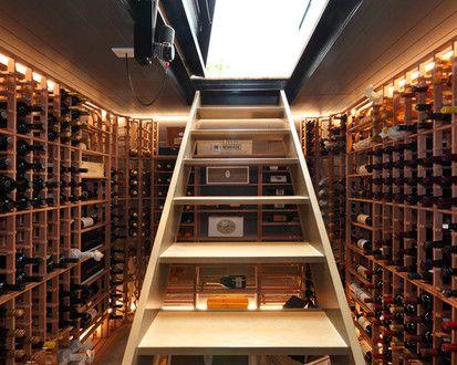 Masons Ave Wine Cellar, Contemporary Wine Cellar, Auckland