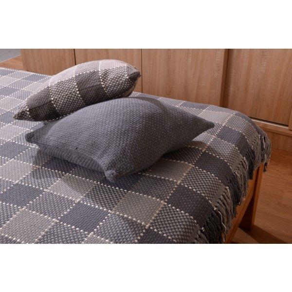 Set cuvertura cu doua fete de perna 11008 maro - Cuverturi - Dormitor - Textile