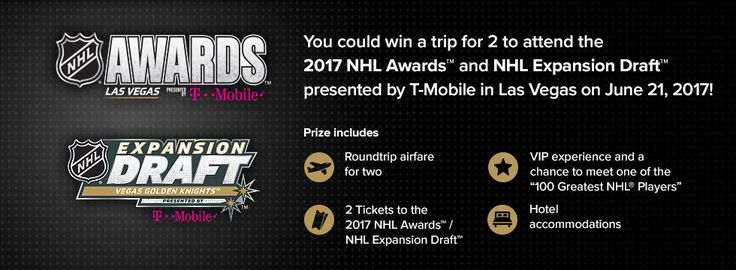National Hockey League - Win a Trip for 2 to the 2017 NHL Awards in Las Vegas - http://sweepstakesden.com/national-hockey-league-win-a-trip-for-2-to-the-2017-nhl-awards-in-las-vegas/