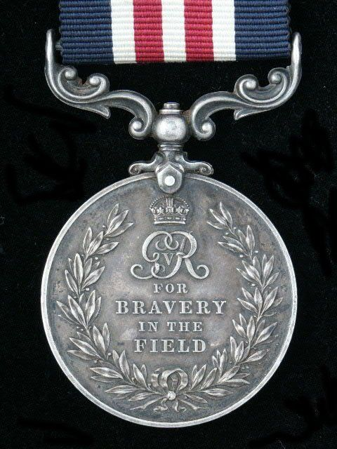 The British Military Medal GV WW1 For Bravery in the Field.