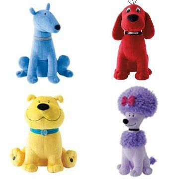 Clifford and Friends  Set of 4  14 Jumbo Plush Clifford Cleo Tbone Mac ** You can find out more details at the link of the image.