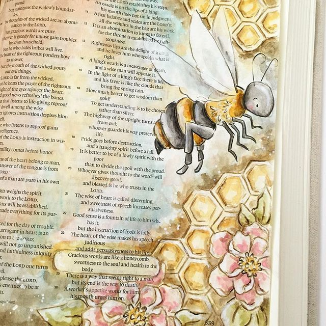 """""""Gracious words are like a honeycomb, sweetness to the soul and health to the body.""""-Pro..."""