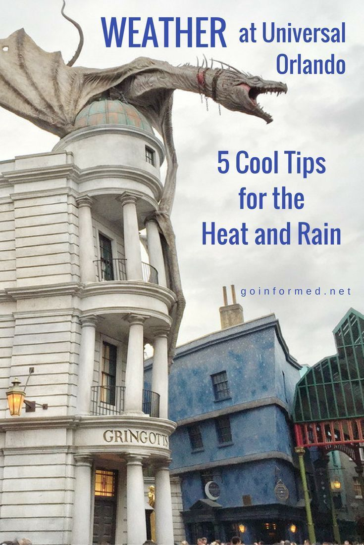 I have never heard of this tip for coping with the heat and rain at Harry Potter World. How to beat the weather at Universal Orlando theme parks.