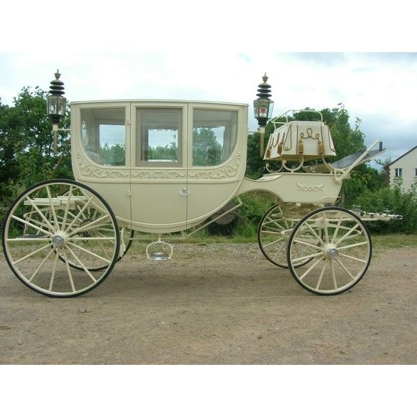 I would LOVE to own a Carriage like this for doing Weddings <3  Ben Ford Horse Drawn Carriages ❤ liked on Polyvore