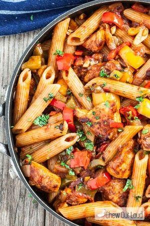 Instant Pot Chicken Fajita Pasta | Annette Leverich Heidenreich | Copy Me That