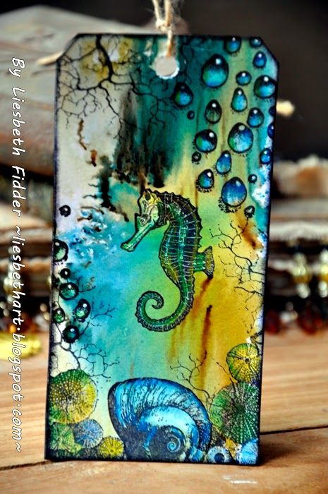 Seahorse Tag! ... Found here on Pinterest via Martha Richardson and http://artjourneydesign-team.blogspot.com/2014/07/bister.html