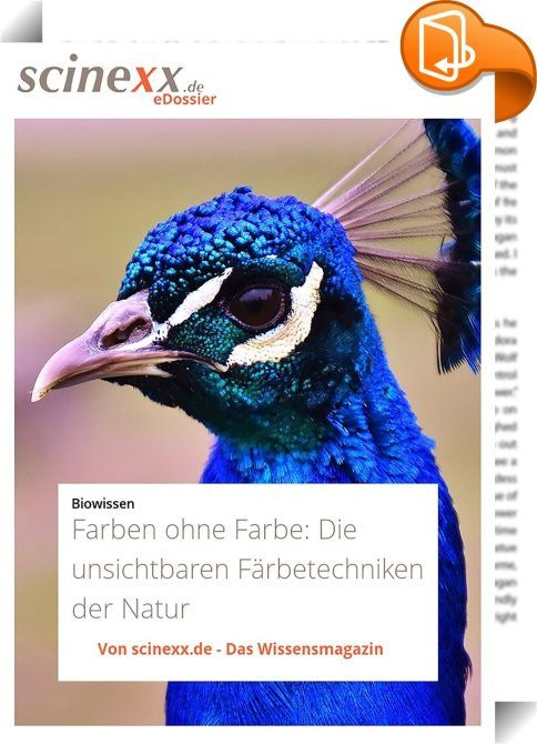 """Farben ohne Farbe    :  Leuchtend blaue Schmetterlingsflügel, das grünschillernde Pfauenrad, vielfarbig glitzernde Edelsteine – hinter dieser Farbenpracht der Natur verbirgt sich ein Geheimnis: Sie entsteht ganz ohne Pigmente.   Stattdessen nutzt die Natur unsichtbare """"Hilfsmittel """" aus der Trickkiste der Physik. Der Schlüssel für die Farbenspiele sind Strukturen im Nanometermaßstab. Winzigste Rippen, Näpfchen oder Gitter brechen, beugen oder überlagern die Wellen des Lichts und erzeug… – Mathias Drasko"""