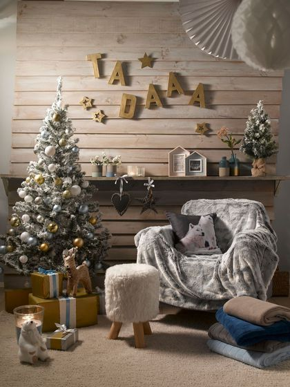 Inspiration chalet pour un Noël chaleureux.