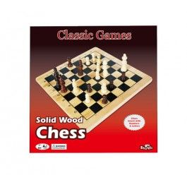 Shuffle Classic Games Solid Wood Chess